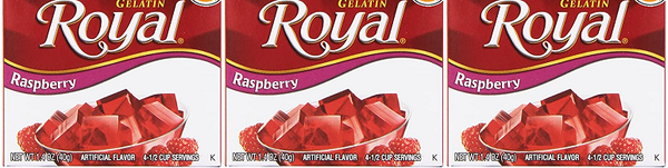 Royal Raspberry Gelatin, 1.41 oz (Pack of 3)