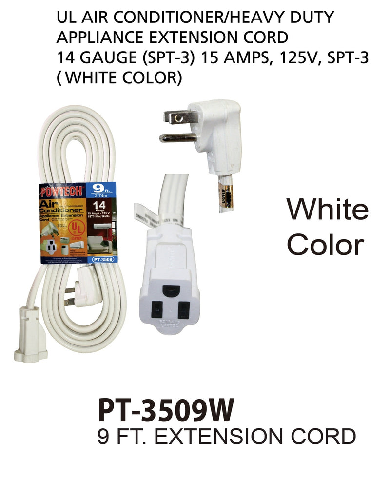 Air Conditioner Appliance Extension Cord 14 Gauge, 9 ft.