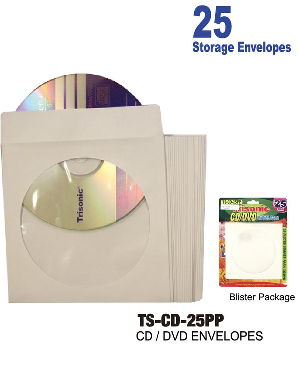 CD/DVD Envelopes, 25-ct.