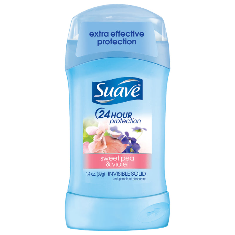Suave Sweet Pea & Violet Invisible Solid Deodorant, 1.4 oz.