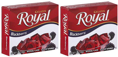 Royal Blackberry Gelatin, 1.41 oz (Pack of 2)