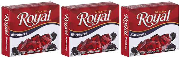 Royal Blackberry Gelatin, 1.41 oz (Pack of 3)
