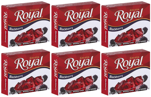 Royal Blackberry Gelatin, 1.41 oz (Pack of 6)