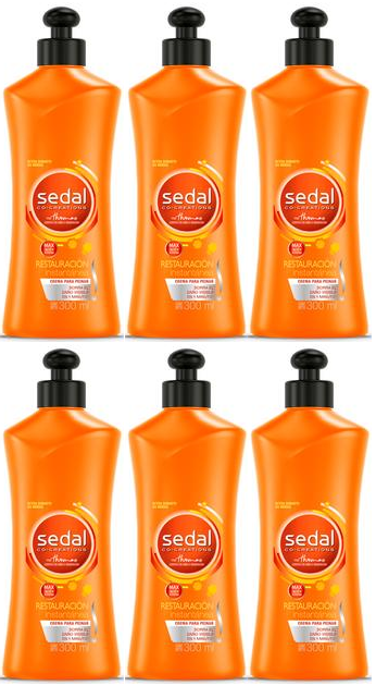 Sedal Co-Creations Restauracion Instantanea Crema Para Peinar 300ml (Pack of 6)