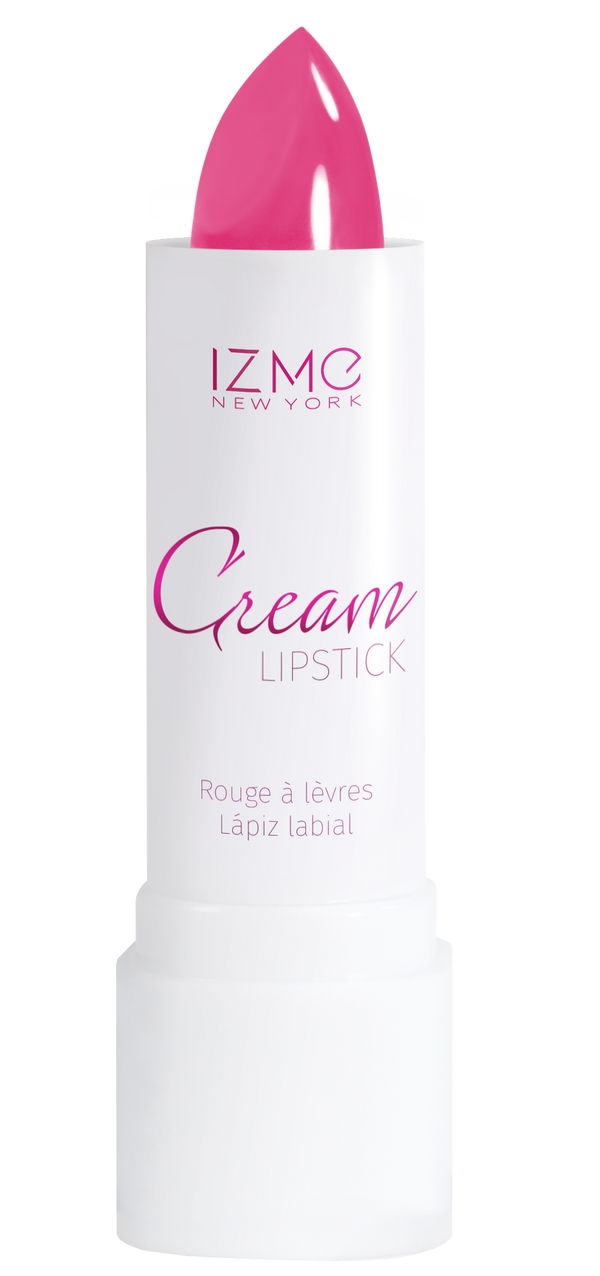 IZME New York Cream Lipstick – FIERCE PINK – 0.12 fl. Oz / 3.5 gm