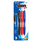 Trio Triangle Assorted Color Oil-Gel Ink Retractable Pen (3/Pack)