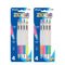 Zilver Side Click Oil-Gel Ink Retractable Pen (4/Pack), 1-Pack