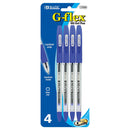 G-Flex Blue Oil-Gel Ink Pen W/ Cushion Grip (4/Pack)