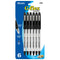 G-Flex Black Oil-Gel Ink Pen W/ Cushion Grip (6/Pack)