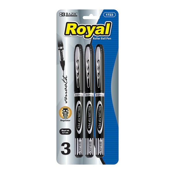Royal Black Rollerball Pen (3/Pack)