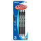 Optima Black Oil-Gel Ink Retractable Pen W/ Grip (3/Pack)