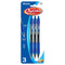 Optima Blue Oil-Gel Ink Retractable Pen W/ Grip (3/Pack)