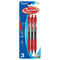 Optima Red Oil-Gel Ink Retractable Pen W/ Grip (3/Pack)