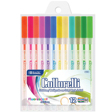 12 Fluorescent Color Collorelli Gel Pen