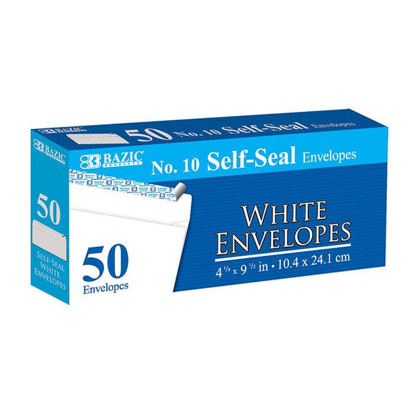 #10 Self-Seal White Envelope (50/Pack)