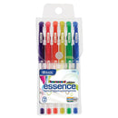 6 Fluorescent Color Essence Gel Pens W/ Cushion Grip