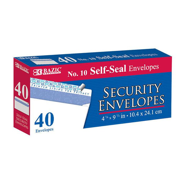 #10 Self-Seal Security Envelope (40/Pack)