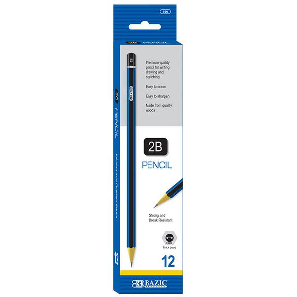 #2B Premium Wood Pencil (12/Pack)