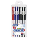 Essence Asst Color Gel-Pen W/ Cushion Grip (6/Pack)