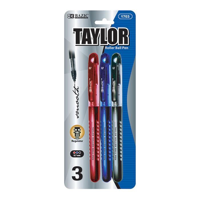 Taylor Assorted Color Rollerball Pen (3/Pack)