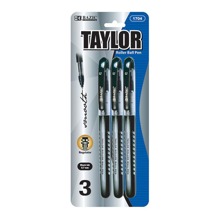 Taylor Black Rollerball Pen (3/Pack)