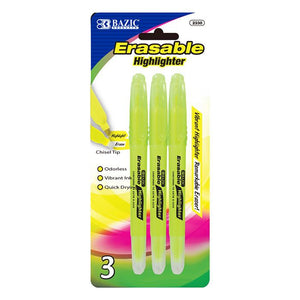 Yellow Erasable Highlighter (3/Pack)