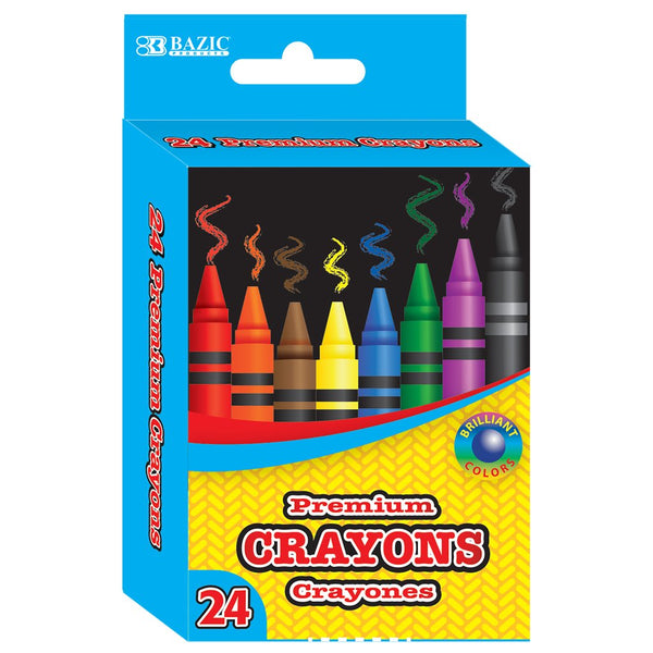 24 Color Premium Quality Crayons