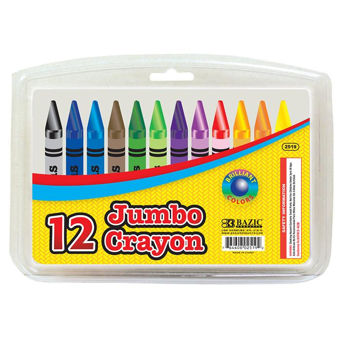 12 Color Premium Quality Jumbo Crayons