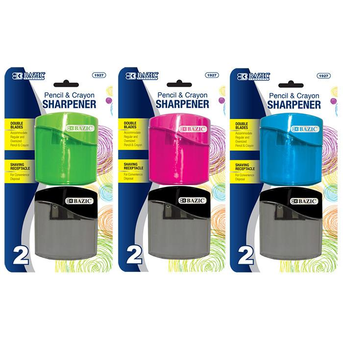 Dual Blades Sharpener W/ Square Receptacle (2/Pack), 1-Pack