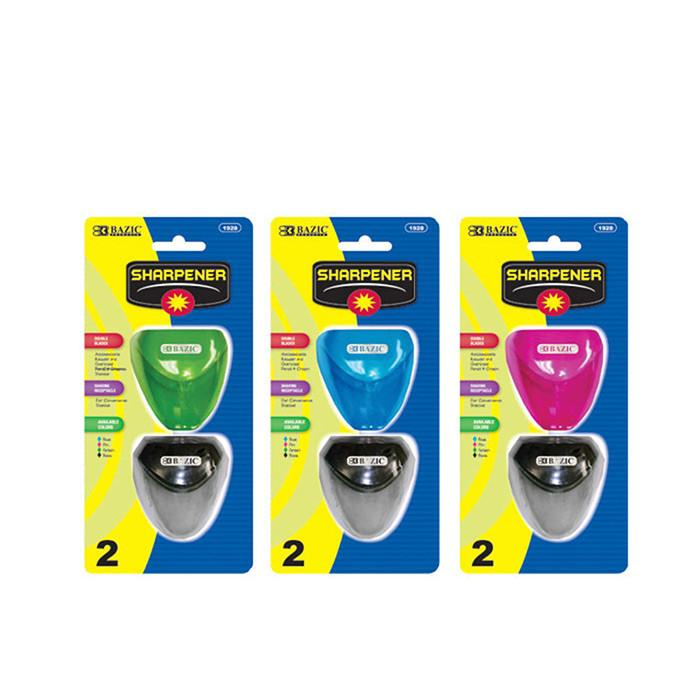 Dual Blades Sharpener W/ Triangle Receptacle (2/Pack), 1-Pack