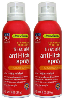 Rite Aid Maximum Strength First Aid Anti-Itch Spray 3.0 oz. EXP 06/21 Pack of 2