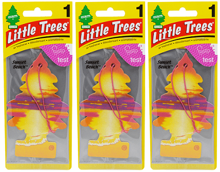 Little Trees Sunset Beach Air Freshener, 1 ct. (Pack of 3)