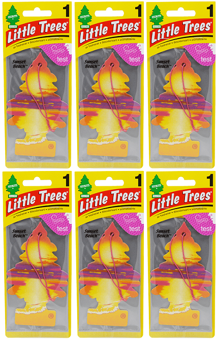 Little Trees Sunset Beach Air Freshener, 1 ct. (Pack of 6)