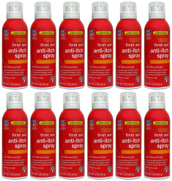 Rite Aid Maximum Strength First Aid Anti-Itch Spray 3.0 oz. EXP 06/21 Pack of 12