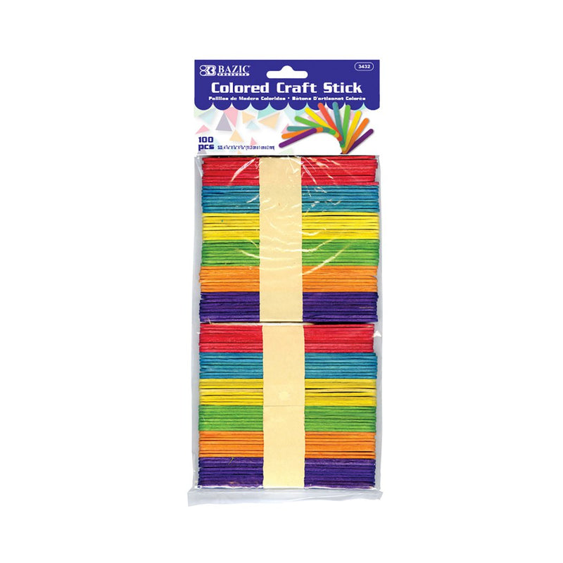 Colored Craft Stick (100/Pack)