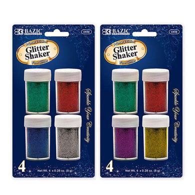 8g / 0.28 Oz. 4 Primary Color Glitter Shaker, 1-Pack