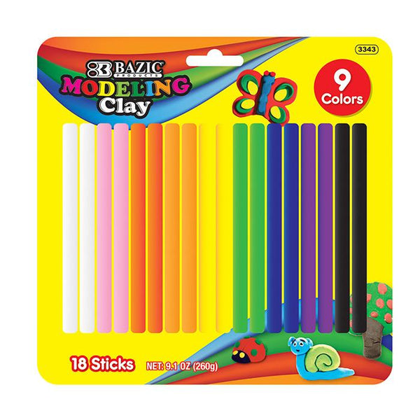 9 Color 260g Modeling Clay Sticks