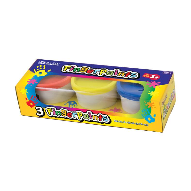 Assorted Color 80 ml Finger Paint (3/Pack)