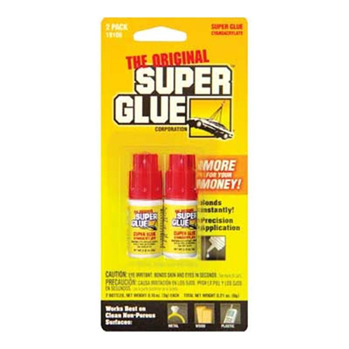 0.11 Oz / 3g Jewelry / Nail Super Glue Bottle (2/Pack)