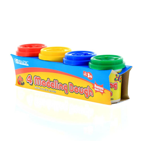 2 Oz. Multi Color Modeling Dough (4/Pack)