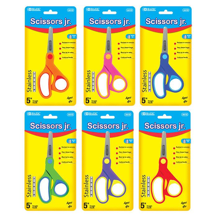 "5"" Soft Grip Stainless Steel Scissors, 1-ct."