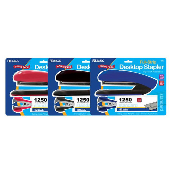 Desktop Full Strip Stapler Set, 1-pack