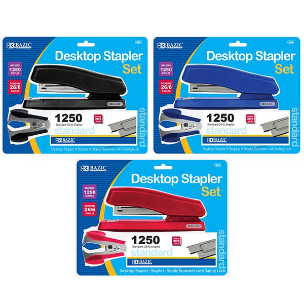Office Desktop Stapler Set, 1-pack