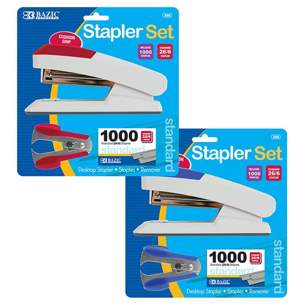 Comfort Grip Desktop Stapler Set, 1-pack