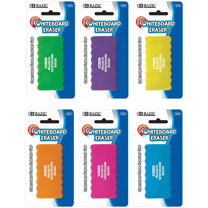 Magnetic Whiteboard Eraser W/ Foam Comfort Grip, 1-Pack