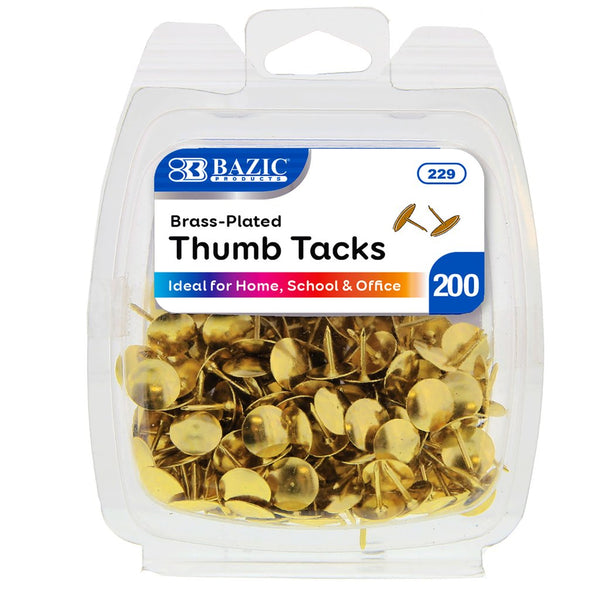 Brass (Gold) Thumb Tack (200/Pack)
