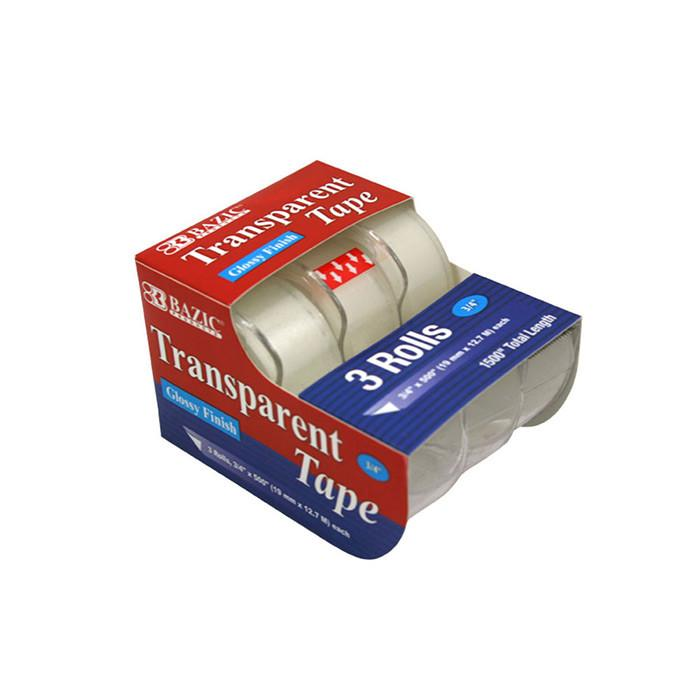 "3/4"" X 500"" Transparent Tape (3/Pack)"