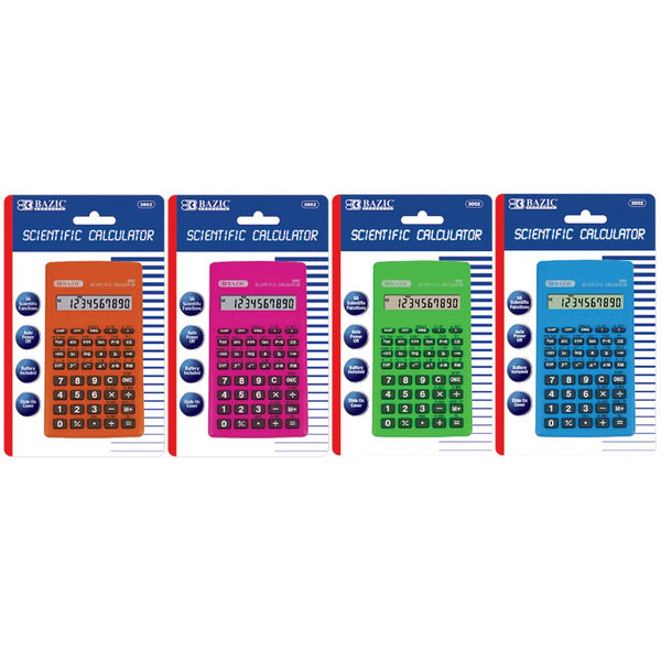 56 Function Scientific Calculator W/ Slide-On Case, 1-Pack