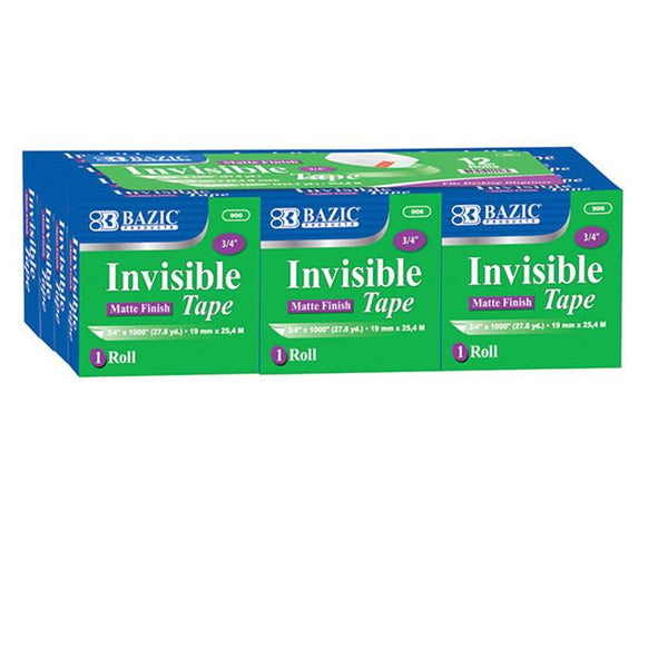 "3/4"" X 1000"" Invisible Tape Refill (12/Pack)"