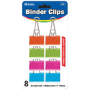 "Medium 1 1/4"" (32mm) Assorted Color Binder Clip (8/Pack)"